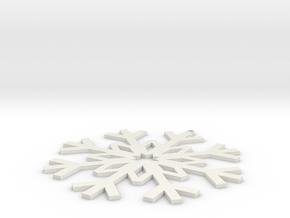 Christmas Ornament 1-1 in White Natural Versatile Plastic