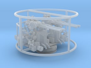 1/96 40mm Quad Bofors Mount in Smooth Fine Detail Plastic