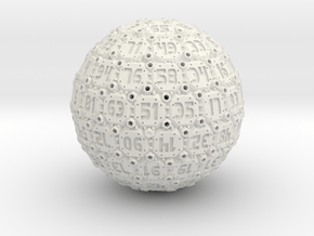 Tech Dice - D100 in White Natural Versatile Plastic
