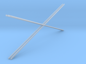 1:48 2 Diag Crossbars 84x28 in Smooth Fine Detail Plastic