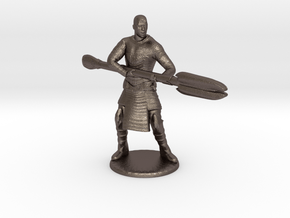 Jaffa  Attack Pose - 35mm  in Polished Bronzed Silver Steel