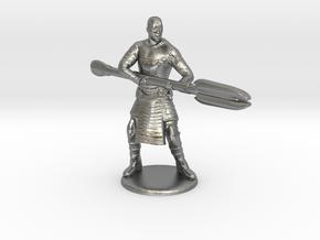 Jaffa  Attack Pose - 35mm  in Natural Silver