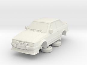 1-64 Ford Escort Mk3 2 Door Rs Turbo in White Natural Versatile Plastic