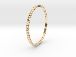 """Bangle simple """"diamonds"""" 4 in 14k Gold Plated Brass"""
