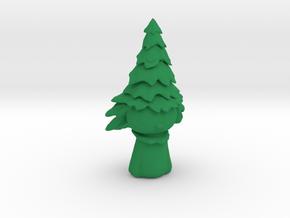 Snowman tree in Green Processed Versatile Plastic