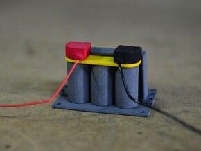 Scale battery V2 in White Natural Versatile Plastic