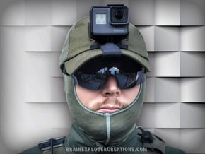 Tactical Cap Mount Compatible with GoPro Hero 5-7 in Black Natural Versatile Plastic