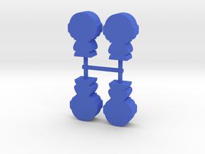 Game Piece, Little Astronaut, 4-set in Blue Processed Versatile Plastic