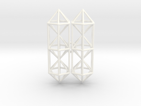 Space Earrings #01 in White Processed Versatile Plastic