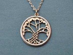 Tree Of Life Pendant in Natural Brass: Medium