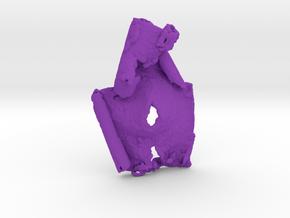 Bark Sculpture Pendant in Purple Processed Versatile Plastic