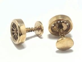 Formula 1 Wheel cufflinks in Polished Bronze