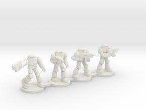 Scarab battle Armor Squad in White Natural Versatile Plastic