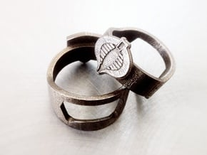 Cobra Ring - GI Joe Bottle Opener band or regular in Polished Bronzed Silver Steel