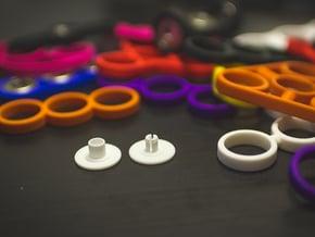 Bearing Cap for Fidget Spinner - Skateboard Size in White Natural Versatile Plastic