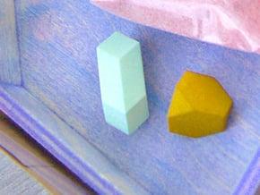 Geometric Rockz  in White Natural Versatile Plastic