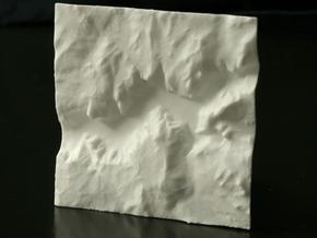 3'' Yosemite Valley Terrain Model, California, USA in White Natural Versatile Plastic