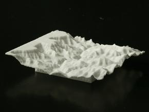 3'' Grand Canyon Terrain Model, Arizona, USA in White Natural Versatile Plastic