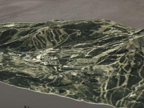 Big Sky Resort, Montana, USA, 1:25000 in Full Color Sandstone
