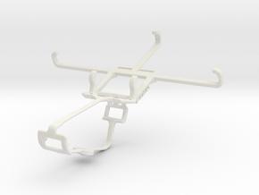 Controller mount for Xbox One & QMobile Noir i8 in White Natural Versatile Plastic