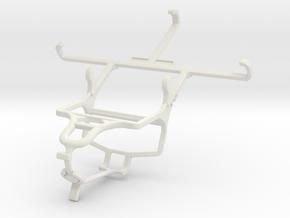 Controller mount for PS4 & QMobile Noir i8 in White Natural Versatile Plastic