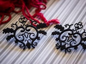 Gothic Leaves Earrings in Black Natural Versatile Plastic