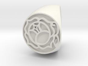 Utena Ring Size 6 in White Natural Versatile Plastic