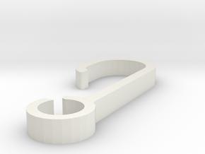 Dog Leash Belt Clip in White Natural Versatile Plastic