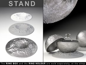 """STAND CRATER to the """"Full Moon Ring Box"""" in White Processed Versatile Plastic"""