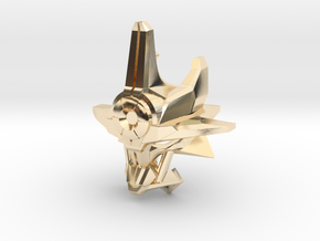 Mask Of Ultimate Power Titan Scale in 14k Gold Plated Brass