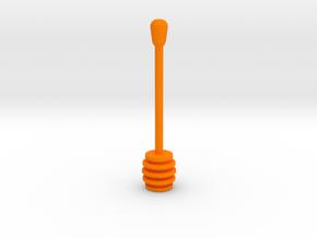 Teaspoon of honey in Orange Processed Versatile Plastic