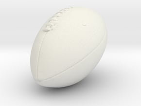 Printle Thing Rugby Ball - 1/24 in White Natural Versatile Plastic