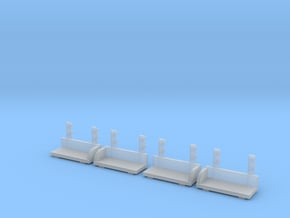 1/64 S-scale Whitcomb 65 Ton Loco Footboards in Smooth Fine Detail Plastic
