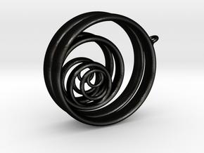 Aurea_Earrings_2 in Matte Black Steel