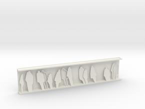 HUMANITY - relief sculpture in White Natural Versatile Plastic