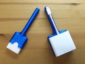 Apple Lightning To HDMI Adaptor Sheaths in Blue Processed Versatile Plastic