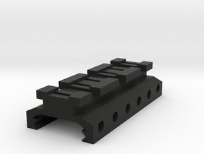 Picatinny to Nerf Adapter (3 Slots) in Black Natural Versatile Plastic