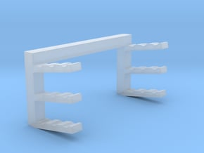 Pipe Storage Rack - Empty in Smooth Fine Detail Plastic