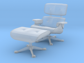 Miniature Eames Lounge Chair - Charles Eames in Smooth Fine Detail Plastic: 1:48 - O