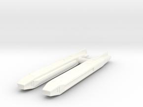 Fiwg-2 Fed Improved Warp Nacelle Set in White Processed Versatile Plastic