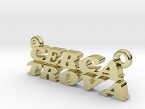 Cerca Trova Pendant Small in 18k Gold Plated Brass