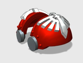 5x Knight Legion - T:3a Tartaros Shoulder Sets in Smooth Fine Detail Plastic