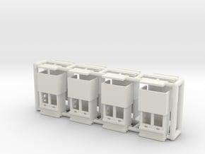 "carnival ""8 ticketboxes"" - 1/220, 1/160, 1/87 in White Natural Versatile Plastic: 1:220 - Z"