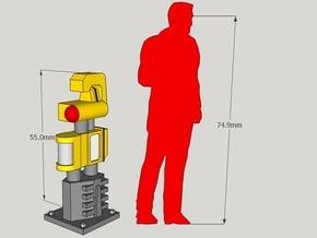 1/24-Scale Blade Runner Parking Meters (3pcs) in White Natural Versatile Plastic