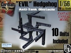1-56 10xEvil Hedgehog in White Natural Versatile Plastic