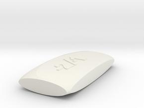 Dice1 in White Natural Versatile Plastic