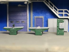 N Scale Woodshop Equipment in Smooth Fine Detail Plastic