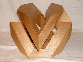 Hamilton Cycle on Cuboctahedron in Black Natural Versatile Plastic