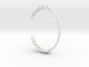 Wheat Bracelet in White Natural Versatile Plastic: Small