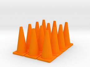 """TC1, Traffic Cones, 1"""" Tall, 12 pcs in Orange Processed Versatile Plastic"""